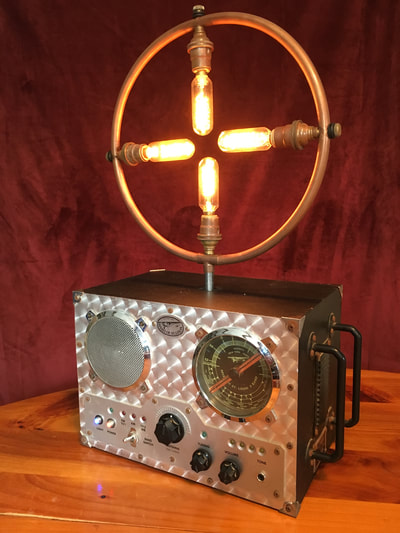 Radio Lamp with Edison bulbs and bluetooth speaker
